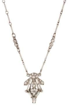 Ben-Amun Pave & Baguette Cut Crystal Deco Pendant Necklace