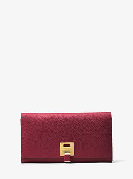 Michael Kors Bancroft Leather Continental Wallet - RED - STYLE