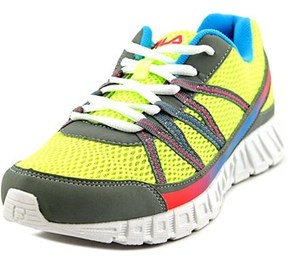 Fila Flicker Youth Round Toe Synthetic Yellow Running Shoe.