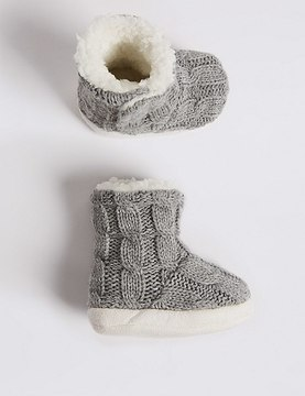 Marks and Spencer Moccasin Slipper Booties (0-24 Months)