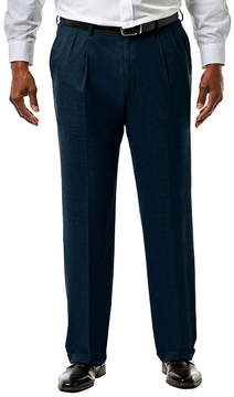 Haggar JM Premium Stretch Sharkskin Classic Fit Pleated Suit Pants - Big & Tall