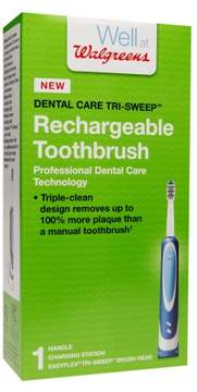 Walgreens Dental Care Tri-Sweep Rechargeable Toothbrush