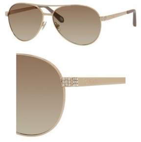 Fossil Metal Aviator Sunglasses 60 03YG Light Gold (CC brown gradient lens)