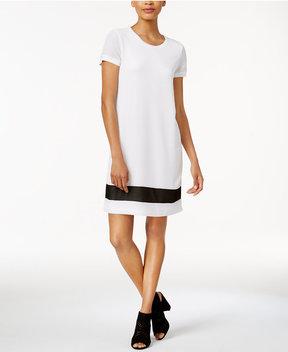 Bar III Textured T-Shirt Dress, Created for Macy's