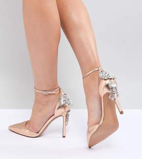 Asos DESIGN Plaza Wide Fit Embellished High Heels
