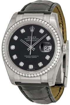 Rolex Oyster Perpetual Datejust Mother of Pearl Dial 18kt White Gold Watch