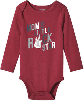 Joe Fresh Baby Boys' Graphic Bodysuit, Dark Red (Size 3-6)