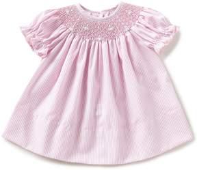 Edgehill Collection Baby Girls 3-24 Months Striped Smocked Bishop Dress