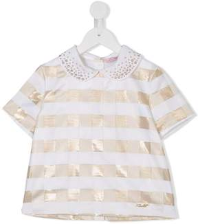 Miss Blumarine checked blouse