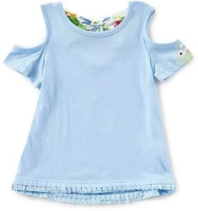 Flapdoodles Little Girls 2T-6X Bow Back Cold-Shoulder Top