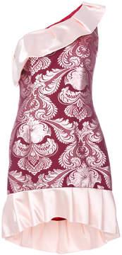 Christian Pellizzari single shoulder jacquard dress