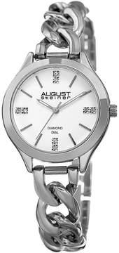 August Steiner Womens Silver Tone Strap Watch-As-8222ss