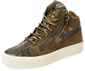 Giuseppe Zanotti Men's Leather Hi Top Sneaker