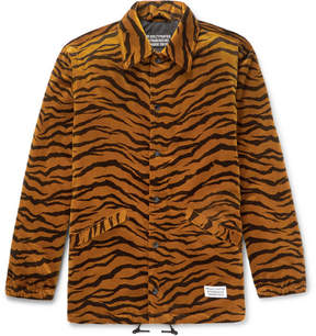Wacko Maria Appliquéd Printed Brushed-Cotton Jacket