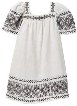 Jessica Simpson Embroidered Linen Dress (Little Girls)