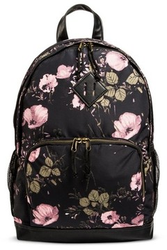 Mossimo Supply Co. Women's Floral Satin Backpack Handbag - Mossimo Supply Co. Black/Pink