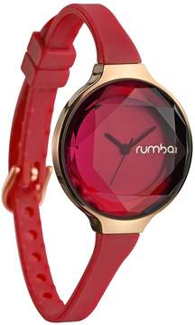 RumbaTime Women's Orchard Gem Silicone Coral Dial Watch