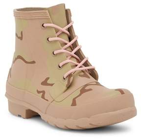 Hunter Waterproof Lace-Up Camo Print Boot