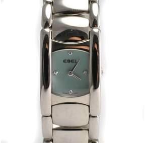 Ebel Beluga Manchette Ladies 9057A21 Diamond Blue Mother of Pearl Quartz Watch