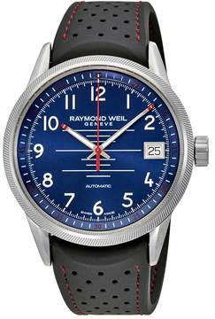 Raymond Weil Freelancer Blue Dial Automatic Men's Rubber Watch