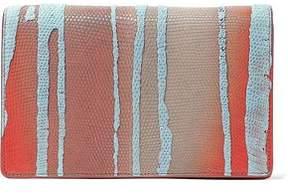 Rick Owens Degradé Lizard-Effect Leather Shoulder Bag