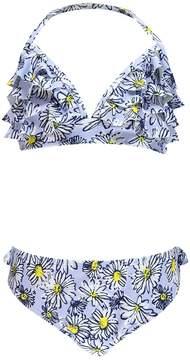 boohoo Girls Frill Daisy Print Triangle Bikini