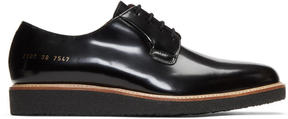 Common Projects Black Shine Derbys