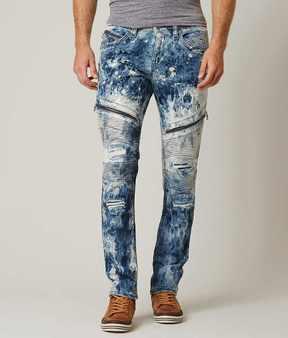 Rock Revival Moto Slim Straight Stretch Jean