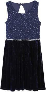 Speechless Girls 7-16 Rhinestone & Velvet Dress