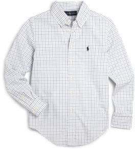Ralph Lauren Boy's Tattersall Dress Shirt
