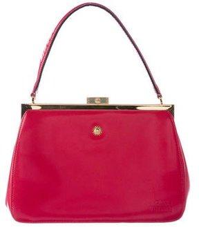 Gianni Versace Leather Frame Handle Bag