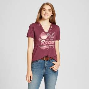 Fifth Sun Women's Hit the Road Destructed Graphic T-Shirt Juniors') Fig