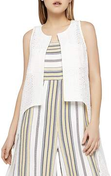 BCBGeneration Eyelet High/Low Vest