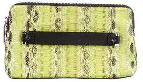 Milly Embossed Leather Clutch