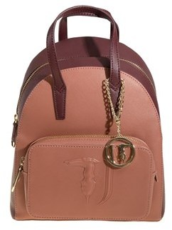 Trussardi Women's Pink Polyurethane Backpack.