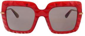 Dolce & Gabbana DG6111 31477N Transparent Bordeaux Square Sunglasses