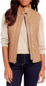 Daniel Cremieux Lauren Genuine Leather Quilted Vest
