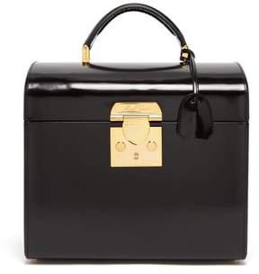 Mark Cross Sara Leather Beauty Case - Womens - Black