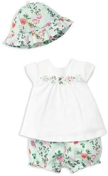 Little Me Girls' Garden Flower Hat, Top & Bloomers Set - Baby