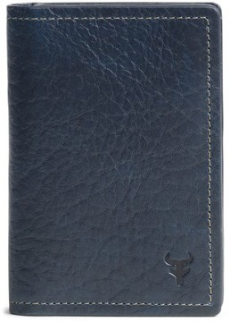 Trask Men's 'Jackson' Gusset Pocket Bison Leather Card Case - Blue