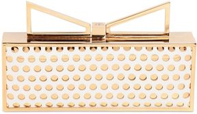 Lady Me Perforated Leather Clutch