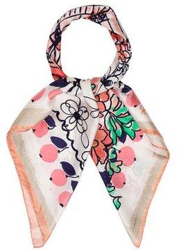 Nina Ricci Floral Silk Scarf