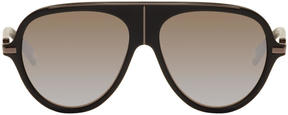 Balmain Black and Gunmetal Aviator Sunglasses