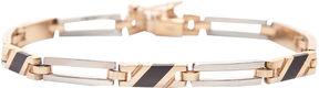 JCPenney FINE JEWELRY Mens 14K Two-Tone Gold with Onyx Bracelet