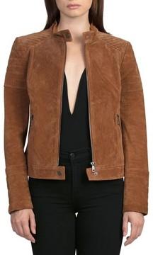 Bagatelle Women's Suede Moto Jacket