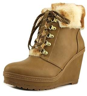 Nanette Lepore Malee Women Round Toe Synthetic Tan Ankle Boot.
