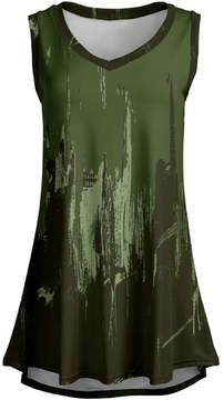 Lily Green & Olive Abstract Sleeveless Tunic - Women & Plus