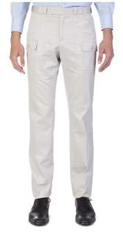 Christian Dior Men's Straight Fit Cargo Dress Pants Taupe.