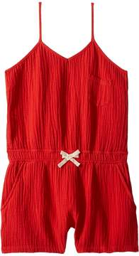 Blank NYC Kids Red Short Romper in All Fired Up Girl's Jumpsuit & Rompers One Piece