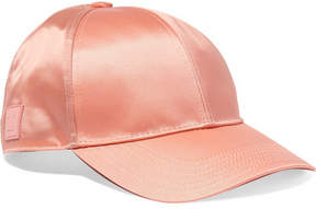 Acne Studios Camp Face Appliquéd Satin Baseball Cap - Pink